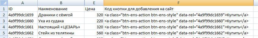 Каталог товаров в формате HTML